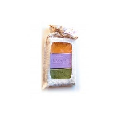 Savon de Provence lot de 3 Miel + Lavande + Olive